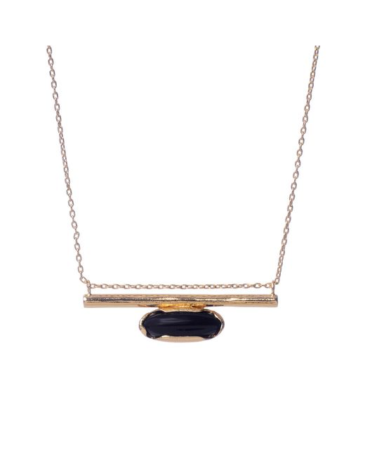 Bing Bang | Metallic Horizon Line Necklace | Lyst