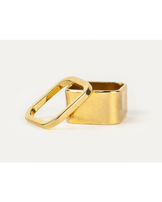 Sabrina Dehoff | Metallic Rounded Square Stacking Ring | Lyst