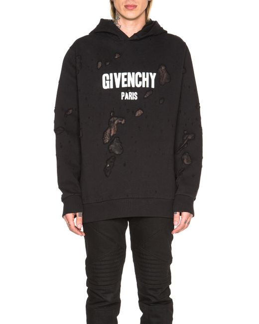 givenchy paris hoodie in black for men lyst. Black Bedroom Furniture Sets. Home Design Ideas