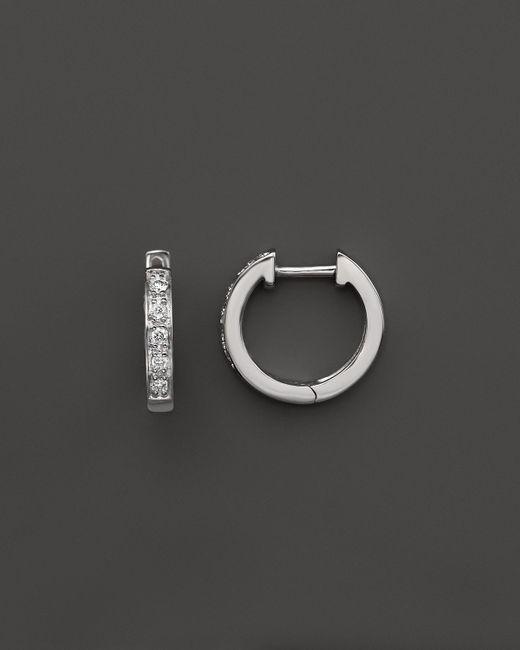 KC Designs | Diamond Mini Hoops In 14k White Gold | Lyst