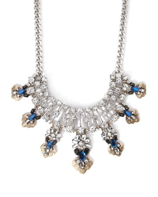 Forever 21 | Metallic Faux Stone Statement Necklace | Lyst