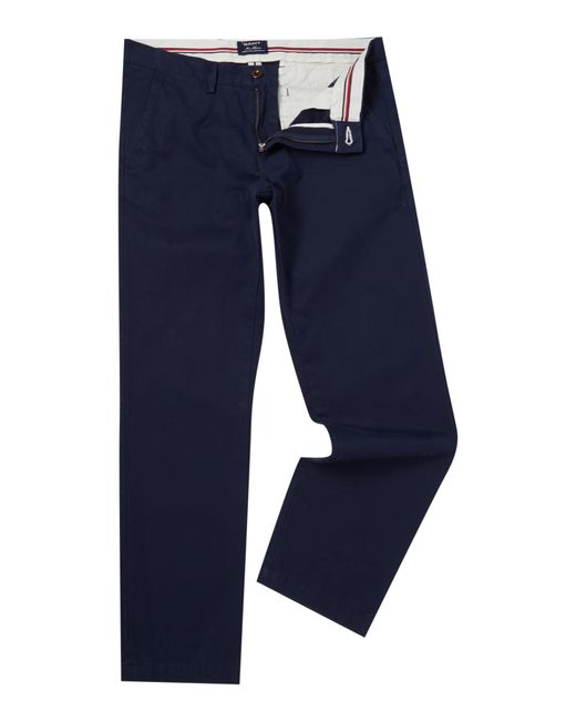 GANT | Blue Haven Regular Fit Chinos for Men | Lyst