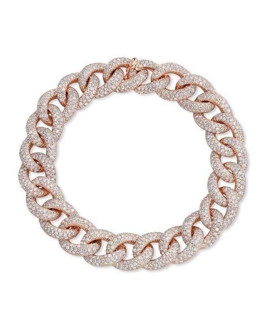 Anne Sisteron - Metallic 14kt Rose Gold Diamond Luxe Chain Link Bracelet - Lyst