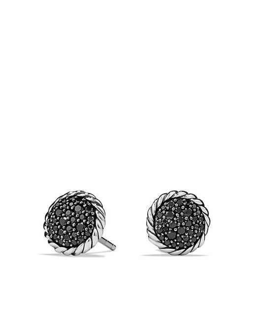 David Yurman   Petite Pave Earrings With Black Diamonds   Lyst