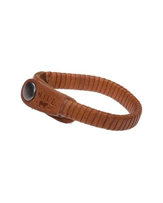 Will Leather Goods | Brown 'peddler' Bracelet for Men | Lyst