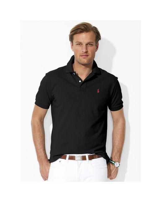 Polo Ralph Lauren | Black Classic-fit Mesh Polo Shirt for Men | Lyst