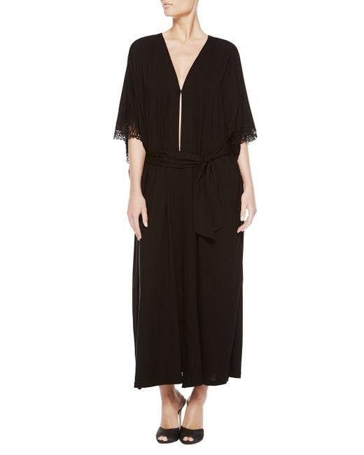 La Perla   Black Long Night Robe   Lyst
