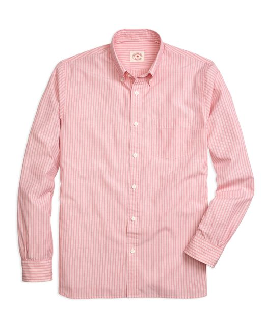 Brooks Brothers   Red Stripe Sport Shirt for Men   Lyst