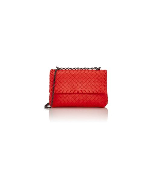 Bottega Veneta | Red Intrecciato Olimpia Mini Shoulder Bag | Lyst