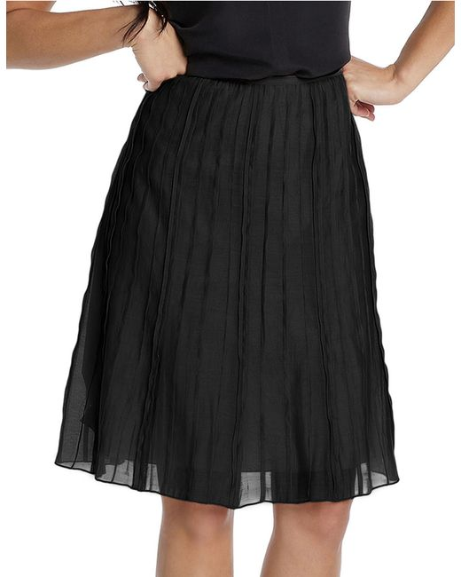 NIC+ZOE | Black Batiste Pleated Skirt | Lyst
