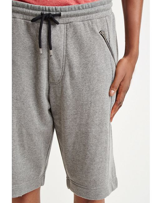 Forever 21 | Gray Zip-pocket Sweatshorts for Men | Lyst