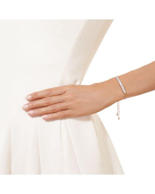 Monica Vinader   Pink Esencia Diamond Bar Bracelet   Lyst
