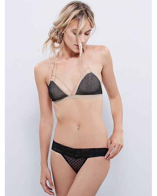 Free People | Black Fish In The Sea Strappy Bra | Lyst