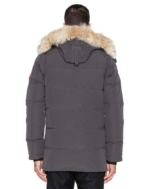 Canada Goose coats replica cheap - Canada goose Carson Coyote Fur Trim Parka in Gray for Men ...