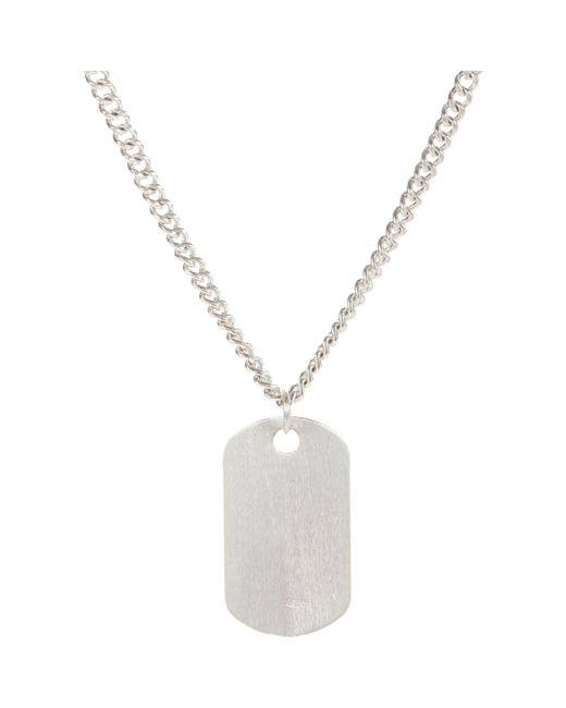 Loren Stewart | Metallic Silver Dog Tag Pendant & Chain | Lyst