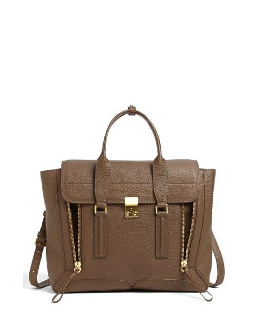 3.1 Phillip Lim | Brown 'large Pashli' Leather Satchel | Lyst