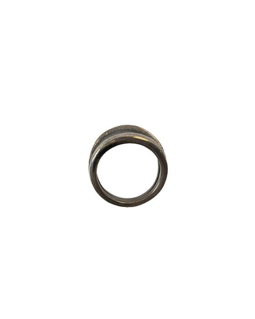Tobias Wistisen | Metallic 'script Plate' Ring for Men | Lyst