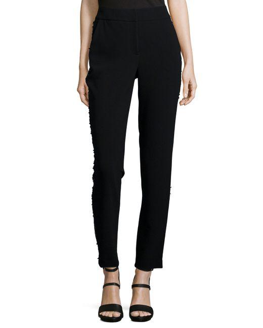 Sachin & Babi | Black Tuxedo Beaded Slim Crop Pants | Lyst