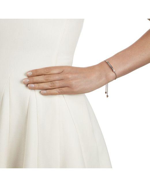 Monica Vinader | Metallic Linear Diamond Toggle Chain Bracelet | Lyst