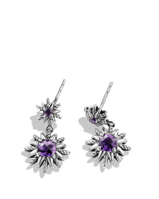 David Yurman | Purple Starburst Earrings With Amethyst And Diamonds, 19mm | Lyst