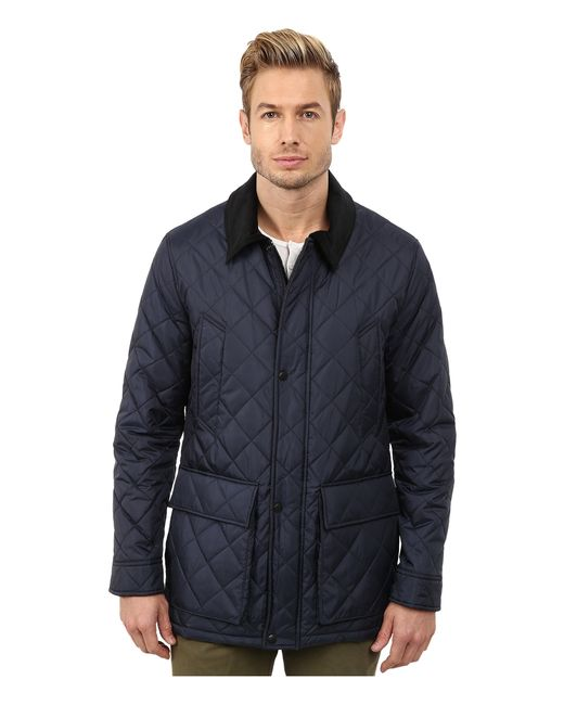 Cole Haan | Blue Quilted Nylon Barn Jacket for Men | Lyst