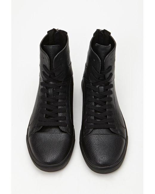 Forever 21 | Black Zippered High-top Sneakers for Men | Lyst
