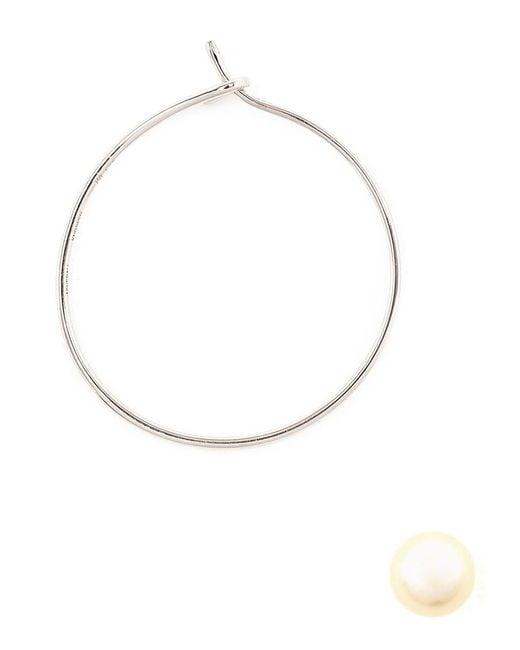Asherali Knopfer | Metallic 'louka' White Gold Hoop Earring | Lyst