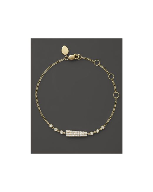 Meira T | Metallic 14k Yellow Gold Asymmetrical Diamond Bar Bracelet | Lyst