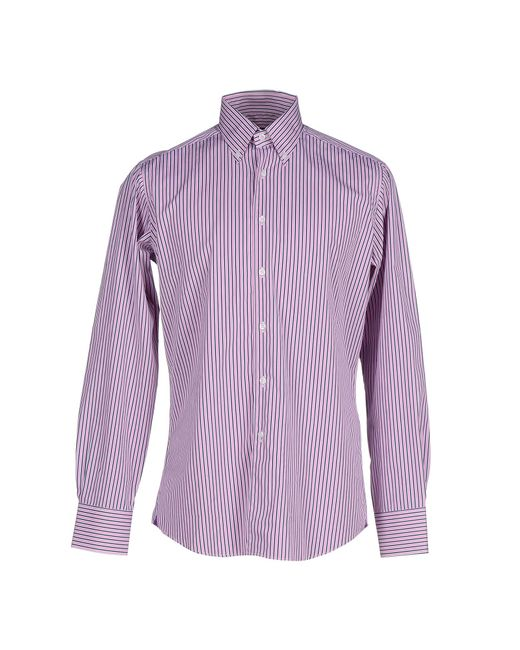 Fabio Inghirami Shirt In Purple For Men Light Purple Lyst