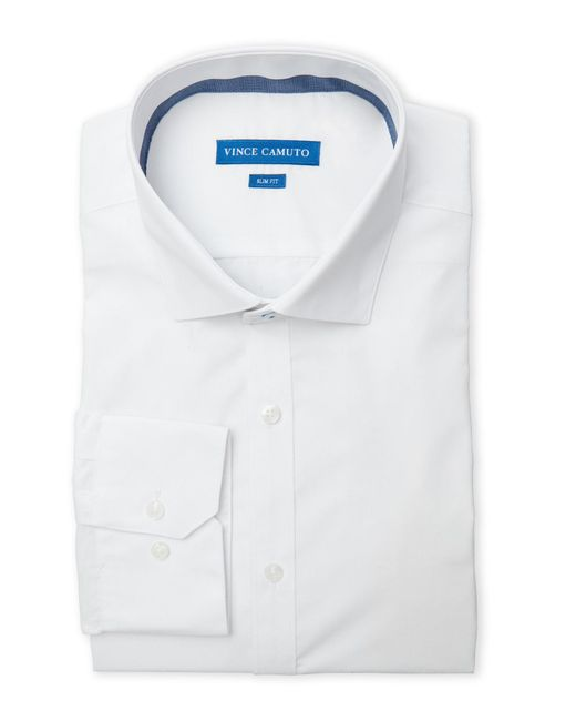 Vince Camuto | White Slim Fit Dress Shirt for Men | Lyst
