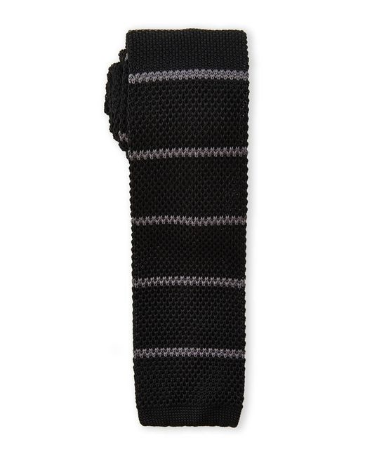 Burma Bibas | Black Bar Stripe Textured Knit Tie for Men | Lyst