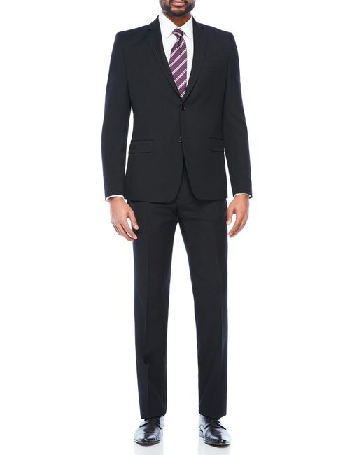 Versace Wool Suit In Black For Men
