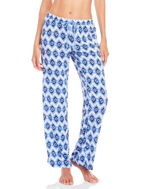 Pj Salvage | Blue Drawstring Pajama Pants | Lyst