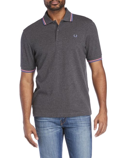 Fred Perry | Gray Twin Tipped Polo for Men | Lyst