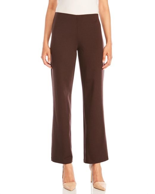 Eileen Fisher | Brown Knit Straight Pants | Lyst