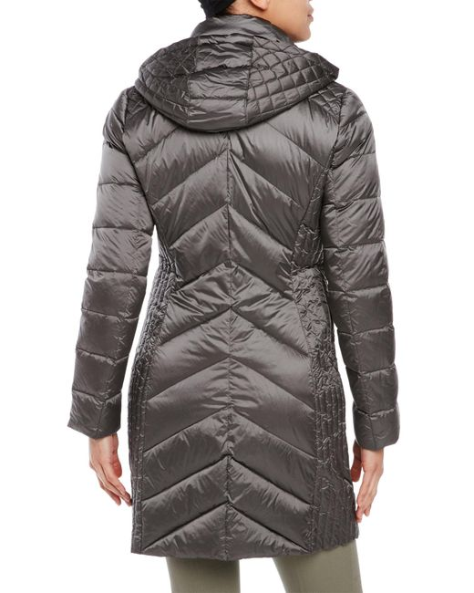 Bcbgeneration Ultra Lightweight Packable Down Coat In Gray