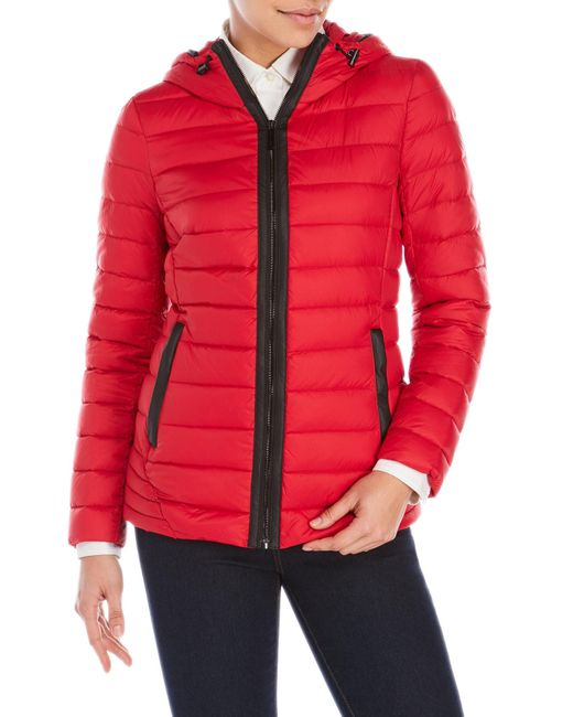 MICHAEL Michael Kors | Red Packable Down Fill Parka | Lyst
