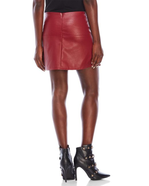 Jolt Faux Leather Mini Skirt In Red Lyst