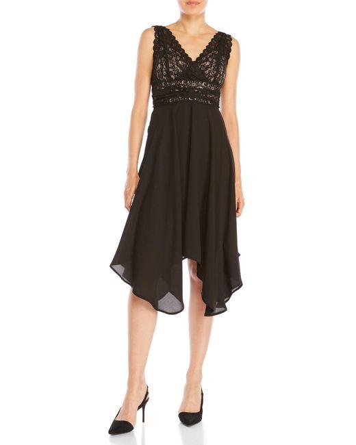 Ivanka Trump   Black Lace Flare Dress   Lyst