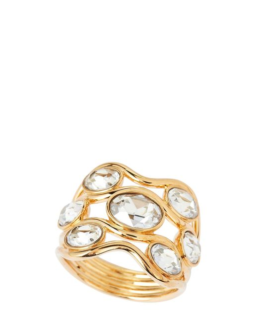 Swarovski - Metallic Gold-tone Wide Fragment Ring - Lyst