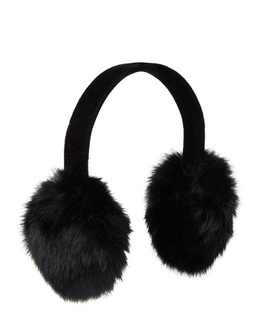 Surell - Black Real Rabbit Fur Earmuffs - Lyst