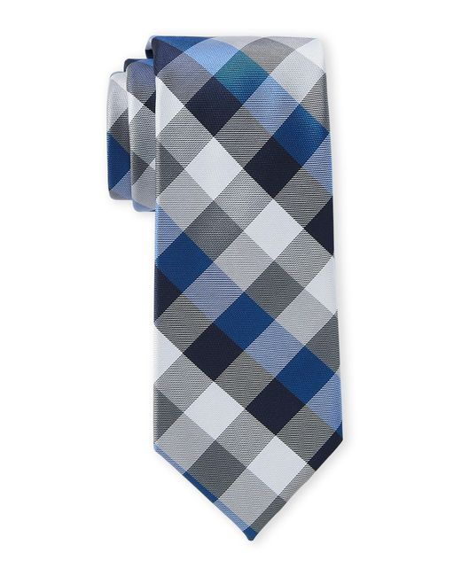 Tommy Hilfiger Gray Grey Buffalo Check Tie for men