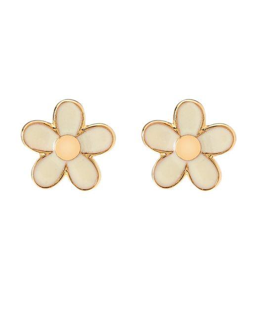 Marc By Marc Jacobs | Metallic Gold-Tone & Cream Daisy Stud Earrings | Lyst