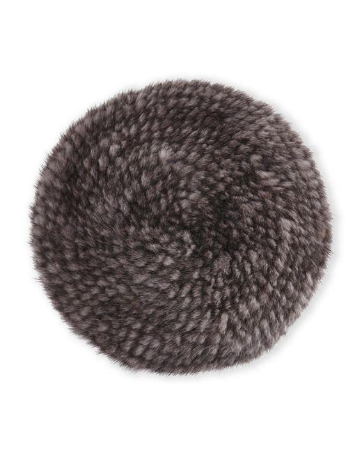 Belle Fare | Gray Real Mink Fur Beret | Lyst