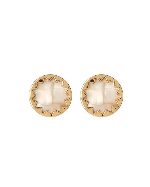 House of Harlow 1960 - Metallic Gold-tone & White Sunburst Earrings - Lyst