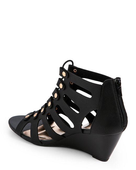 Madden Girl Black Hastee Wedge Gladiator Sandals In Black