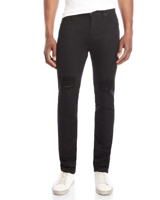 Stampd - Black Essential Split Knee Jeans for Men - Lyst