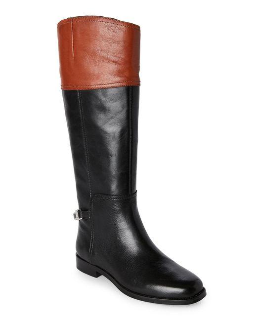 Lauren by Ralph Lauren | Black Maryann Wide Calf Riding Boots | Lyst