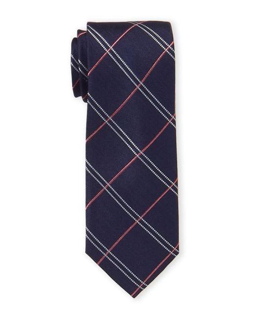 Tommy Hilfiger Blue Soho Stripe Silk Tie for men