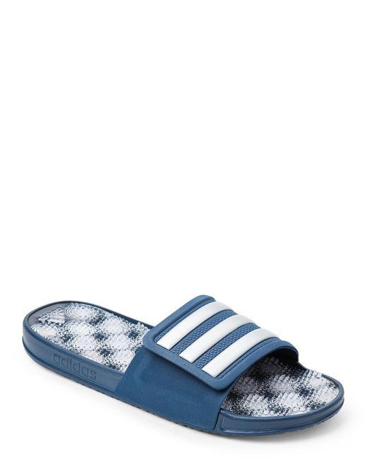 0a5c891dee2 Adidas originals Blue   White Adissage 2.0 Slide Sandals .